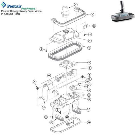 kreepy krauly parts diagram sta rite sta rite great white gw9500 pool cleaner parts