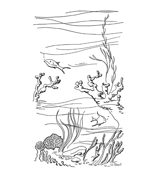 ocean scenes coloring pages coloring home