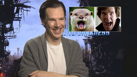 Cumberbatch Otter Meme - benedict cumberbatch talks about his otter meme youtube
