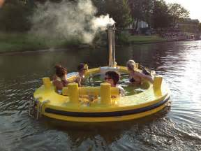 the hottug a motorized floating wood fired tub
