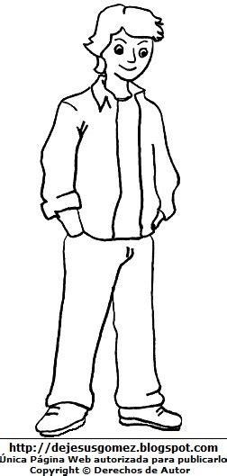 dibujos para nios de hombres para colorear pintar dibujos fotos acrostico y mas dibujos de hombres jovenes