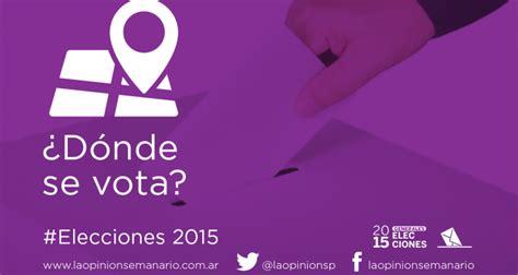elecciones 2015 donde voto elecciones 2015 191 d 243 nde se vota