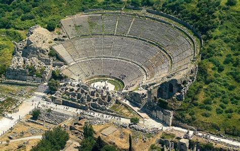 Modern Day Houses by Ancient Ruins Of Ephesus Selcuk Kusadasi Turkey