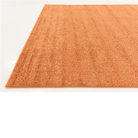 rug solid plain soft shaggy area rugs 9 10 x 13 0 orange solid basic rug ebay