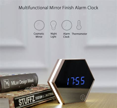 Digital Clock Size 45 Cm X 215 Cm Type Jh4622 multifunctional digital alarm clock with led light