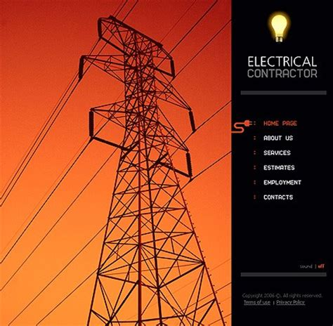 electrical template 10 most popular electrical website templates
