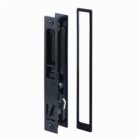 Sliding Patio Door Handle With Lock Prime Line Black Flush Mount Sliding Door Handle Set C 1101 The Home Depot