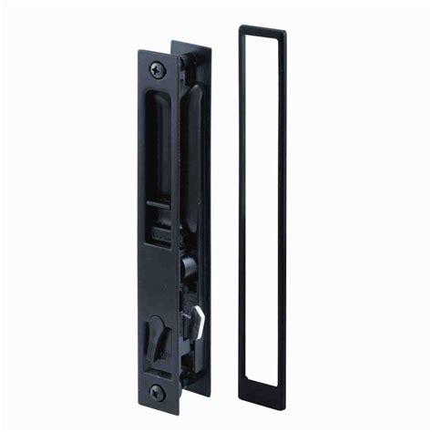 Prime Line Croft Black Flush Mount Sliding Door Handle Set