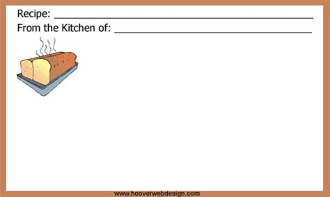 bread recipe card template for word free recipe cards templates