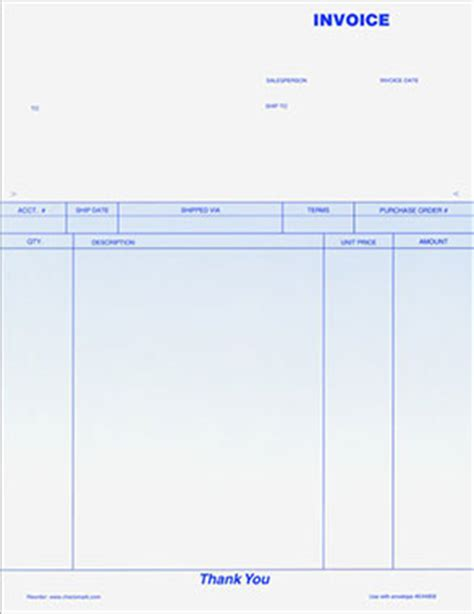 blank invoice paper printable invoice template