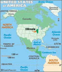 chicago on a map of usa