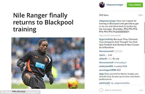 Finally Sent Back To by Blackpool Striker Nile Ranger Claims He Was Sent Back To