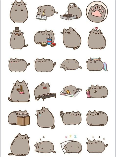 printable cat stickers facebook stickers pusheen facebook stickers pusheen