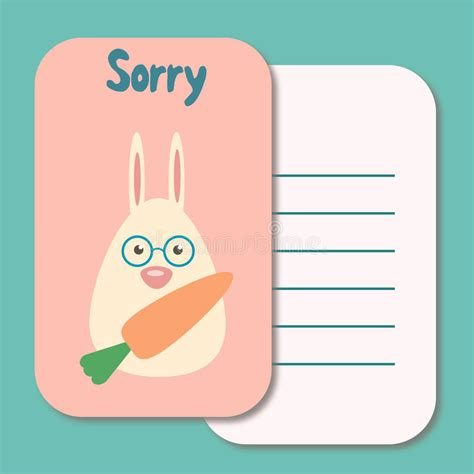 apology card templates word sorry card stock illustration illustration of