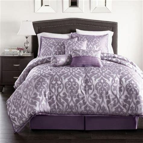 purple bed sets purple bedding westland home angelina 7 piece