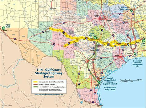road map of texas and louisiana u s 190 to become i 14 in texas louisiana not part of current strategic highway plans 95 7