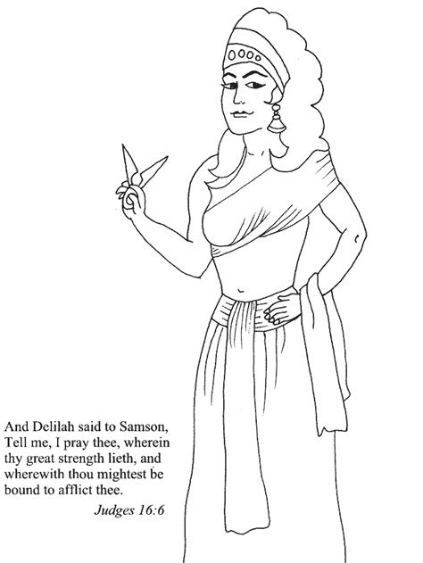 free coloring pages of samson and delilah