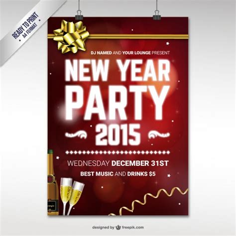 new year cmyk cmyk new year poster template vector free