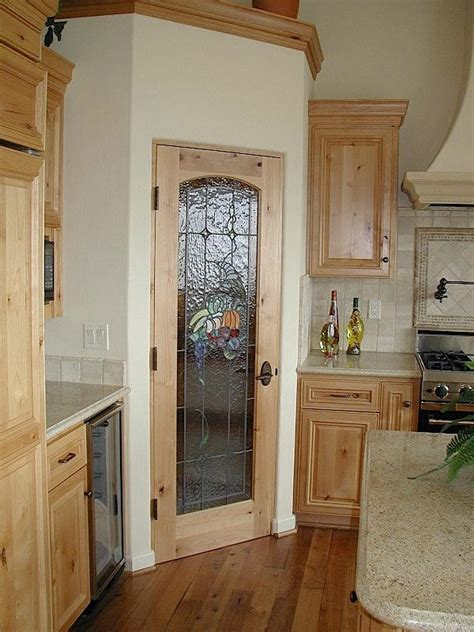 kitchen pantry door ideas stained glass