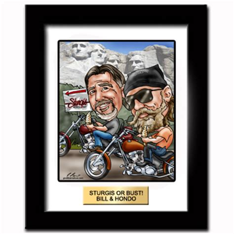 Where Can I Buy A Harley Davidson Gift Card - harley davidson gifts custom harley davidson caricatures from a photo