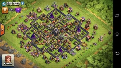 layout coc th9 layout th9 push clash of clans tropa de elite clash