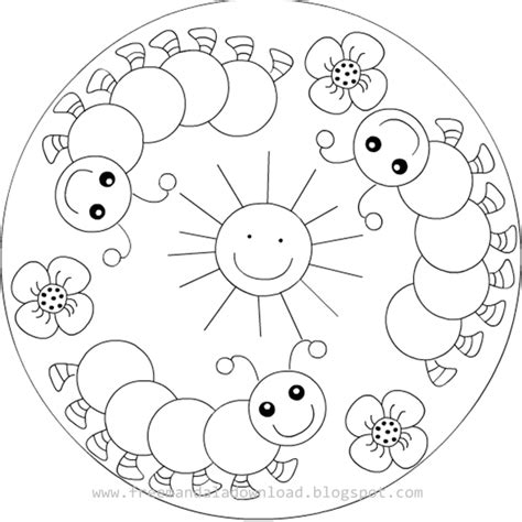 Kinder Mandala Malvorlagen   Free Mandala Download