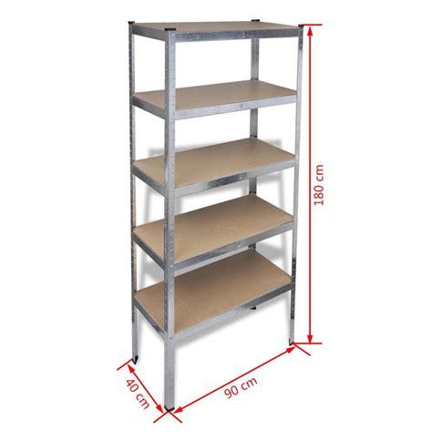 mensole garage articoli per scaffale a 5 mensole 180cm per garage e