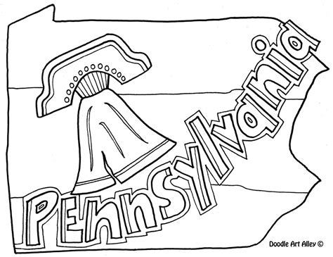 pennsylvania coloring page by doodle art alley usa