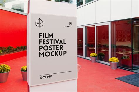 film up free download free film festival poster mockup on behance