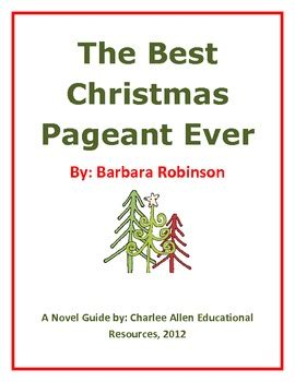 coloring pages for the best christmas pageant ever the best christmas pageant ever 24 page novel guide by