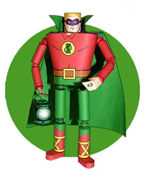 Origami Green Lantern Ring - retro green lantern papercraft papercraft paradise