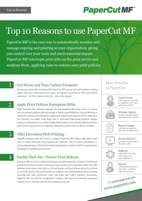 10 Reasons To Cut On Now by Papercut Top 10 Reasons