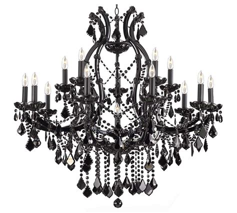 Black And White Chandelier Shades Maria Theresa Trimmed Chandelier Chandeliers Crystal