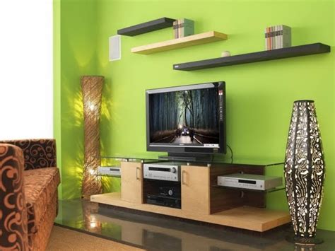 Green living room ideas one green wall by homecaprice com