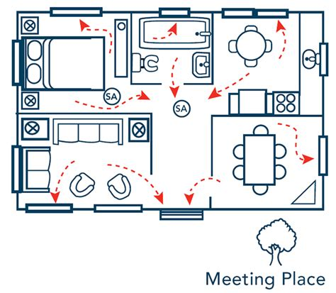 home fire escape plan template home escape planning