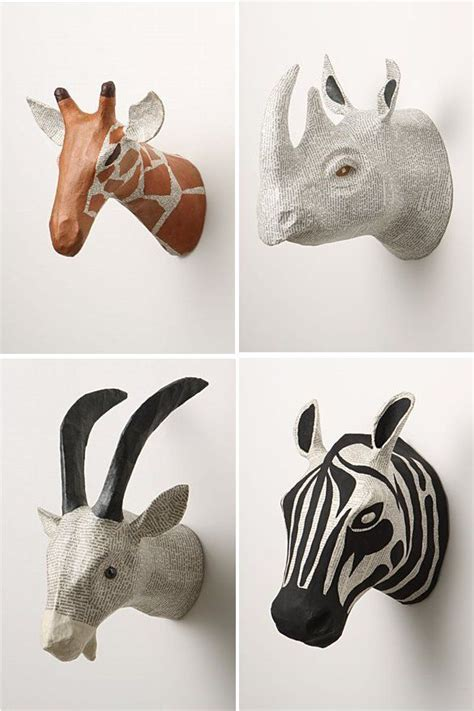 How To Make Paper Mache Animals - 25 best ideas about animal heads on animal
