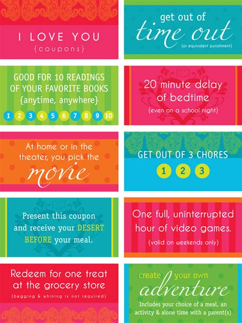 free custom printable love coupons love coupons for kids free printable from boutique by design