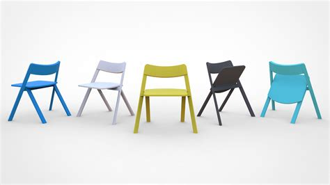 design milk wheelchair curva a stackable folding chair by cristian reyes