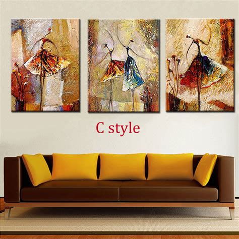 oil painting on 3 piece cheap modern paintings for living hand painted modern abstract oil painting figures girls
