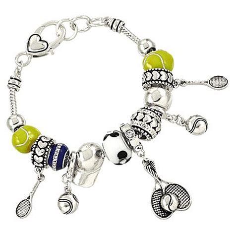 pandora inspired tennis sport theme charm bracelet