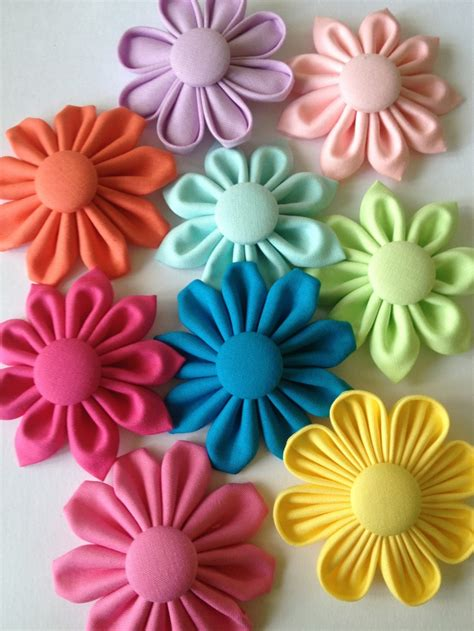 Handmade Cloth Flowers - 107 best fabric flowers accessories images on