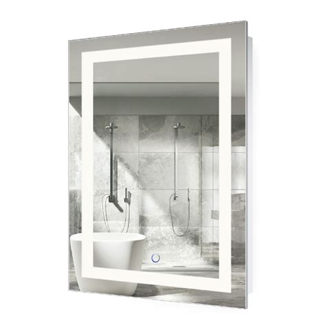 bathroom mirror defogger led lighted 24 quot x36 quot bathroom mirror with dimmer defogger