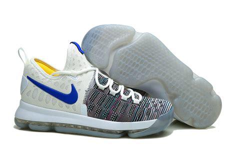 blue and grey nike basketball shoes nike kd 9 basketball shoes blue grey white cheap lebrons
