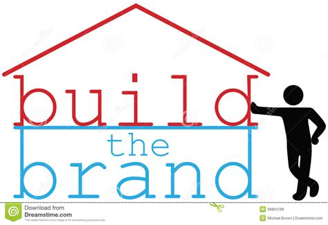 build business brand promotion person royalty free stock