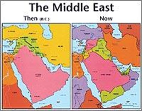 middle east map bible times holy land then and now wall chart laminated book covers