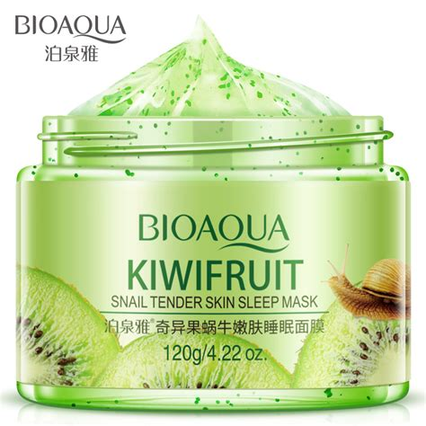 Masker Kiwi Clinic kiwi fruit snail serum sleep mask mask acne treatment blackhead remover moisturizing