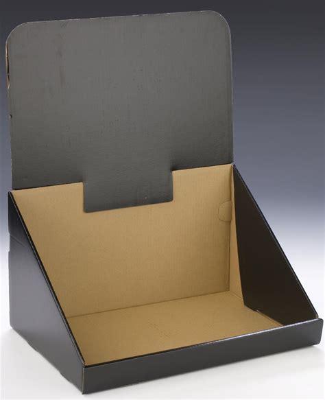 Countertop Displays Cardboard by Corrugated Countertop Bin Black