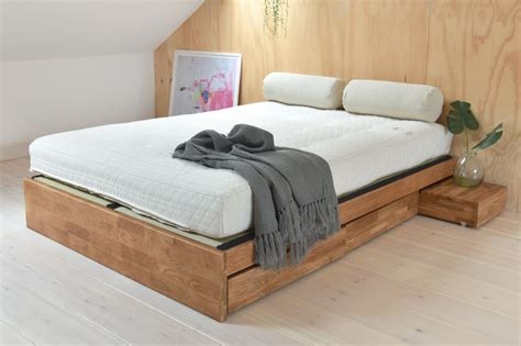 contemporary platform double bed solid oak futon company