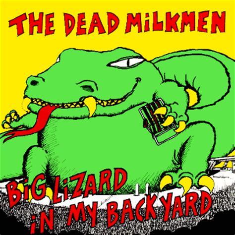 big lizard in my backyard lyrics dead milkmen discography