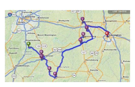 map kentucky bourbon trail the dull gigantor accountant